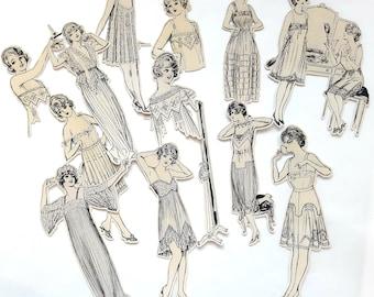 Ephemera - Parisienne lingerie / junk journal smash book glue book
