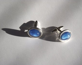 01 Blue Moonstone14x10 mm  Cufflinks