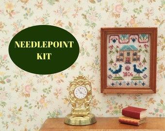 Dolls house miniatures 12 scale, Needlepoint kits, 1:12 miniature sampler, Cross stitch pattern, Dolls house furniture, Dolls house kit