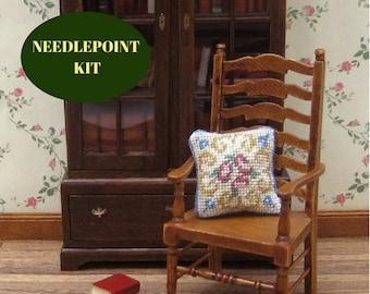 Doll house pillows, needlepoint kits, doll house furniture, doll house miniatures, dollhouse miniature pillow, needlepoint kits pillow, 1 12