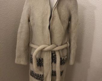 aefc3711d06 Vintage Icewool Artic Sheep Wool Coat Jacket Womens Small Iceland
