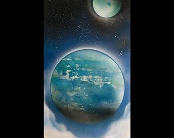 Moonset on the Coast Print