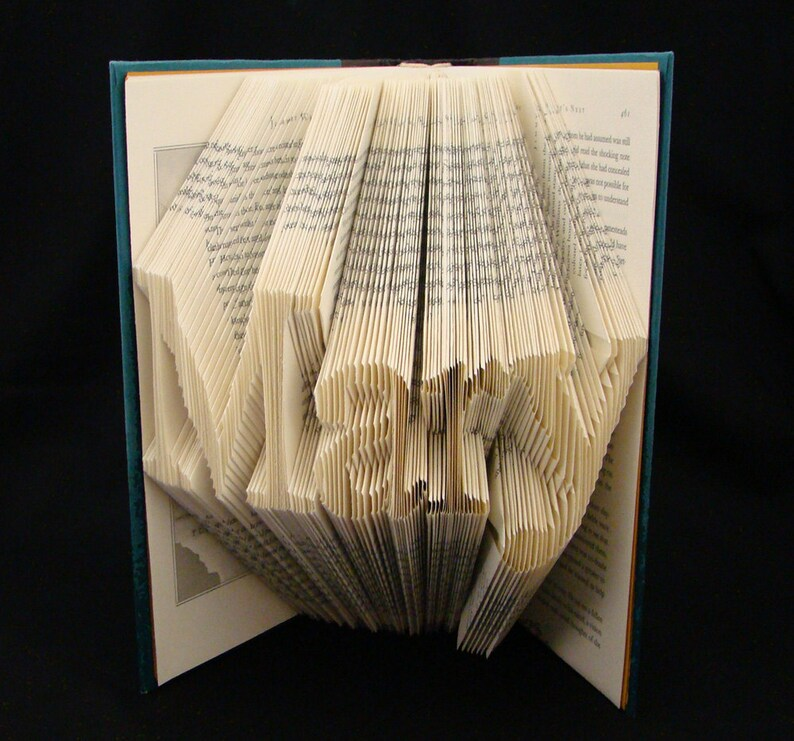 Mary -- 4 Letter Names -- Folded-Book Art Sculpture