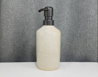 IN STOCK*Ceramic Soap Dispenser Handmade Pottery Lotion Dispenser Pottery for Kitchen and Bath - Matte White