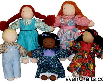 PDF 16\u201d pattern and tutorial DIY kit: t-shirt for button jointed Waldorf dolls . length from BiBidolls 40 cm Material