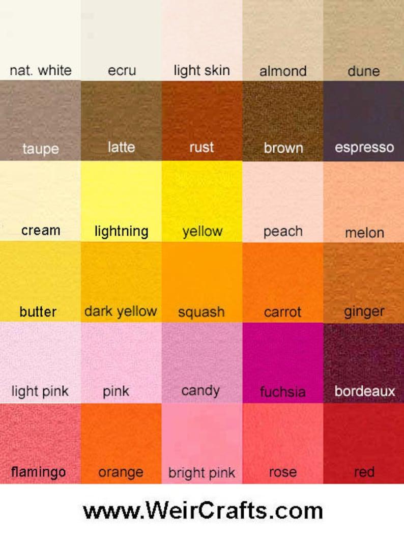 pure merino wool Full 60 Color Set 100/% Wool Felt 8 x 12