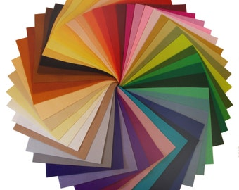 "100% Wool Felt - ONE 8"" x12"" sheet - choose your colors - pure merino wool"