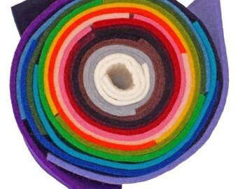 "3mm ( 1/8"") Thick Designer 100% Wool  Felt - 9"" x 9""  square"