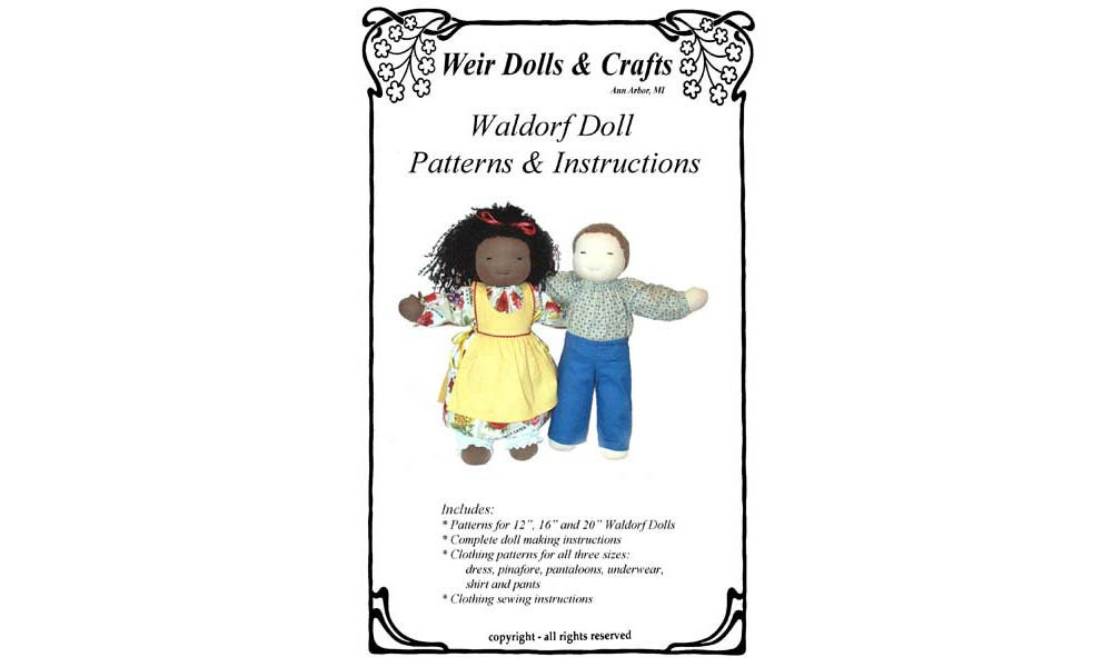 12 16 And 20 Waldorf Doll Patterns And