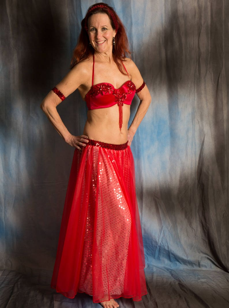 Princess Harem Girl Hot Hot Red Costume 34D bra cup