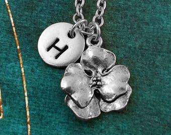 Flower Necklace SMALL Flower Charm Necklace Flower Jewelry Gardener Gift Gardening Gift Garden Jewelry Mother's Day Jewelry Flower Girl Gift