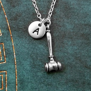 Gavel Necklace SMALL Gavel Charm Necklace Gavel Jewelry Mallet Necklace Judge Necklace Law Gift Lawyer Jewelry Auctioneer Lawyer Necklace