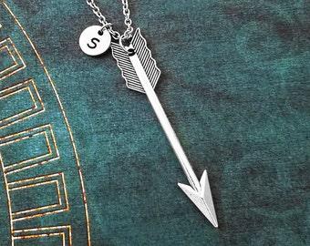 Arrow Necklace LARGE Arrow Jewelry Arrow Charm Necklace Arrow Pendant Necklace Bohemian Jewelry Archer Jewelry Archer Necklace Archery Gift