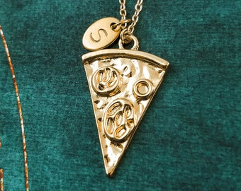 Pizza Necklace Slice of Pepperoni Pizza Jewelry Pizza Slice Pizza Charm Necklace Pizza Pendant Necklace Personalized Pizza Gift Food Jewelry