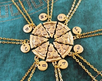 Food Jewelry Pizza Jewelry Best Friends Pizza Necklace Fun Gift Idea Under 15 Pizza Lover BFF Best Friends Jewelry Pizza Slice Necklace
