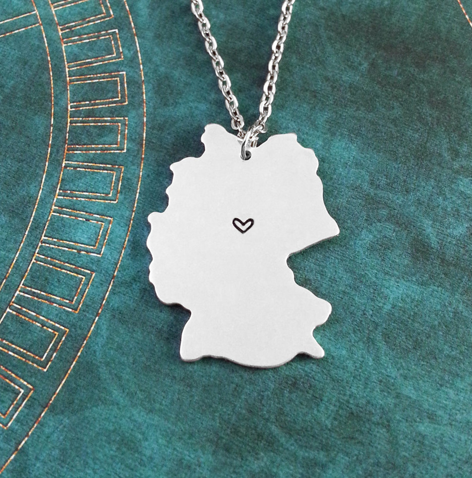 Germany Necklace Personalized