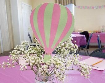 Hot Air Balloon Centerpieces, Hot Air Balloon Party, Hot Air Balloon Shower - 5 Centerpiece Stakes