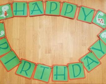 Dinosaur Birthday Party, Dinosaur Decorationd, Dinosaur Happy Birthday Banner, Dino Party