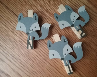 Fox First Birthday, Gray Fox Party Monthly Photo Banner, Gray Woodland First Birthday Party, Gray Fox Monthly Pins, N-12 Pictures (Gray Fox)