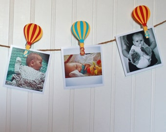 Hot Air Balloon First Birthday Party, First Birthday Monthly Photo Banner, N-12 Pictures