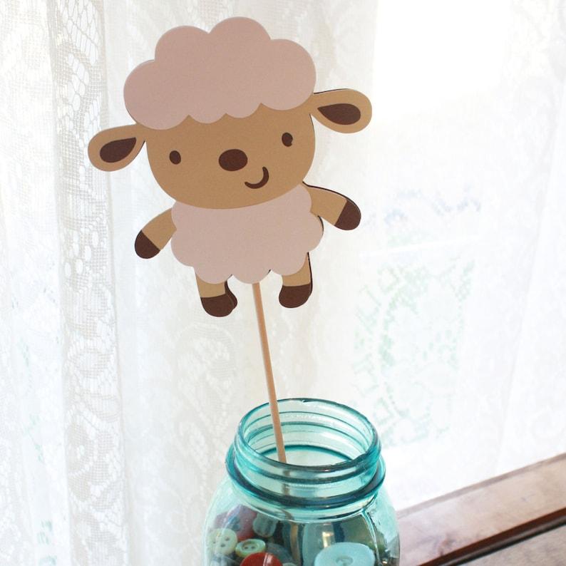 Lamb Baby Shower Decorations Lamb Decorations Set of 5 Sheep Baby Shower Lamb Party