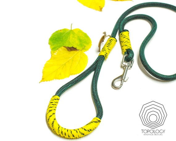Climbing Rope dog leash Sporty Forest Green climbing rope in