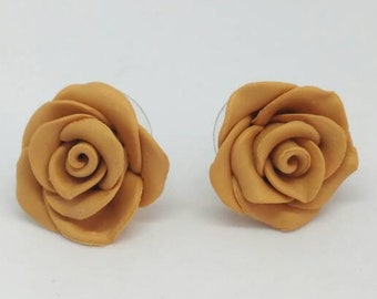 Dainty roses studs: Dainty rose earrings, bridal roses earring gift, Little rose earrings, Roses everyday studs, Valentine's day rose studs