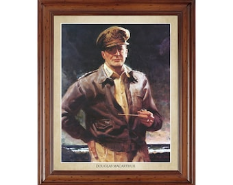 Douglas Macarthur portrait; 16x20 print on premium heavy photo paper