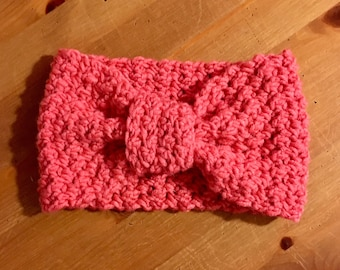 Raspberry pink crochet headband