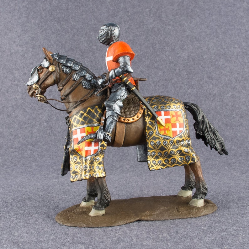 Toy Soldiers Knight Hospitaller on A Horse 1/32 Scale Pewter Metal  Miniatures 54mm Hand Painted Statuette Action Figurine - Free Shipping