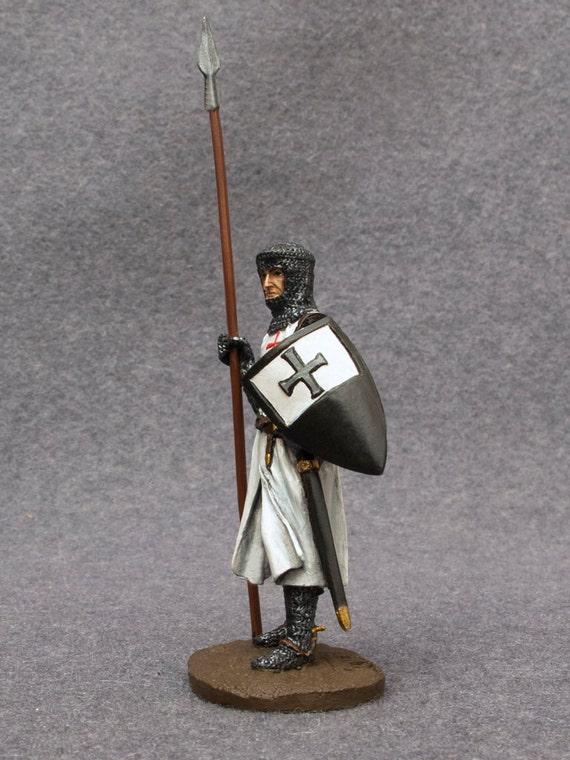1//32 Crusader Knight Medieval Tin Metal Soldier handmade figure 54mm NEW