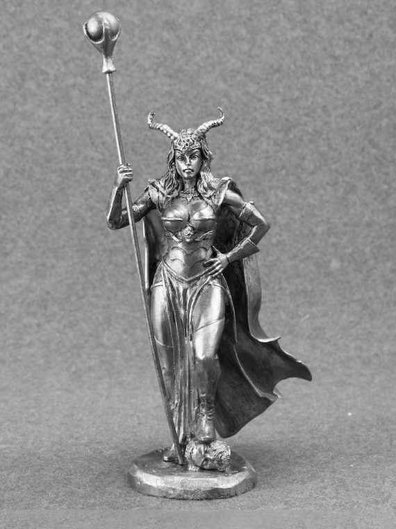 Wizard Girl Warrior Toy Soldiers Woman 75mm Metal Figure 1//24 scale