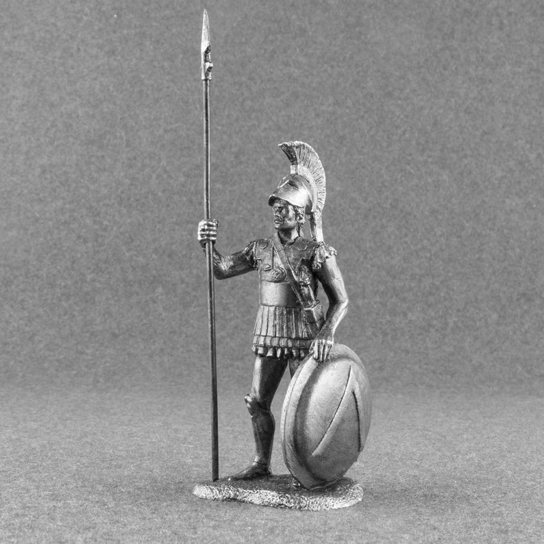 Spartan Gift Collectible soldier Hoplite Handmade Miniature Gift for Him  unique home decor Gift