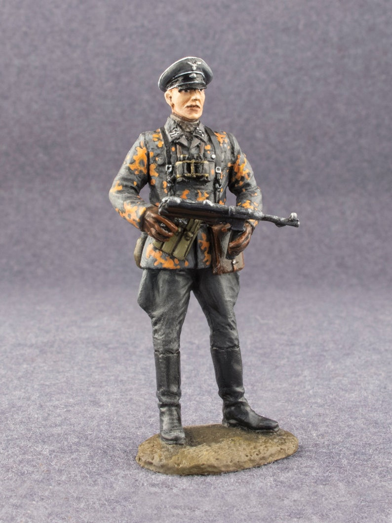 World War 2 Toy Soldiers SS-Hauptsturmfuhrer Nazi (Captain) 1/32 Scale  Painted 54mm Historical Metal Miniature Figure Model