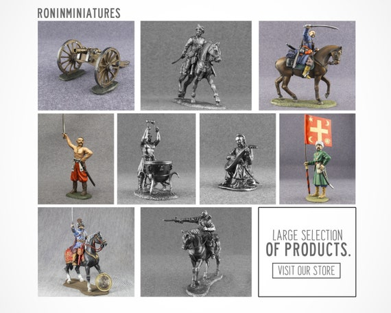 scale 1//32 Tin Army Polish cavalryman Tin Toy Soldiers Metal Sculpture Miniature Figure Collection 54mm M159