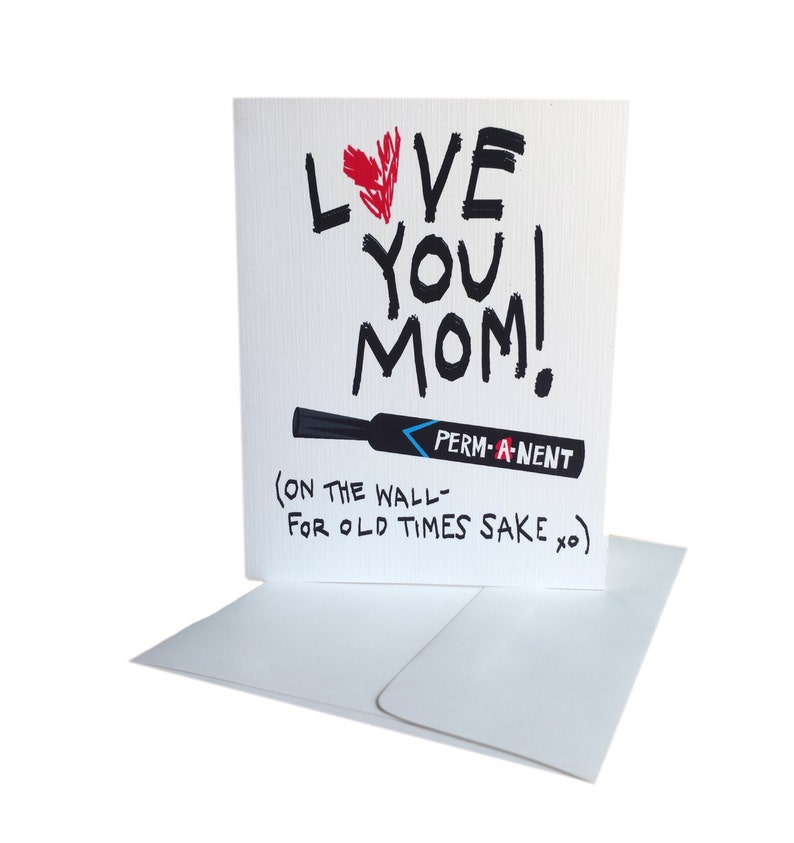 image relating to Printable Funny Mothers Day Cards called PRINTABLE - Humorous Moms Working day Card - Enjoy Your self Mother - Long-lasting Marker - Prompt Obtain