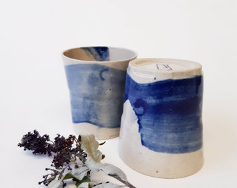 Set of 2, Shot glasses, Modern Pottery Gift, Espresso Tumbler Set, Contemporary Handmade Pottery, Ceramic Glasses