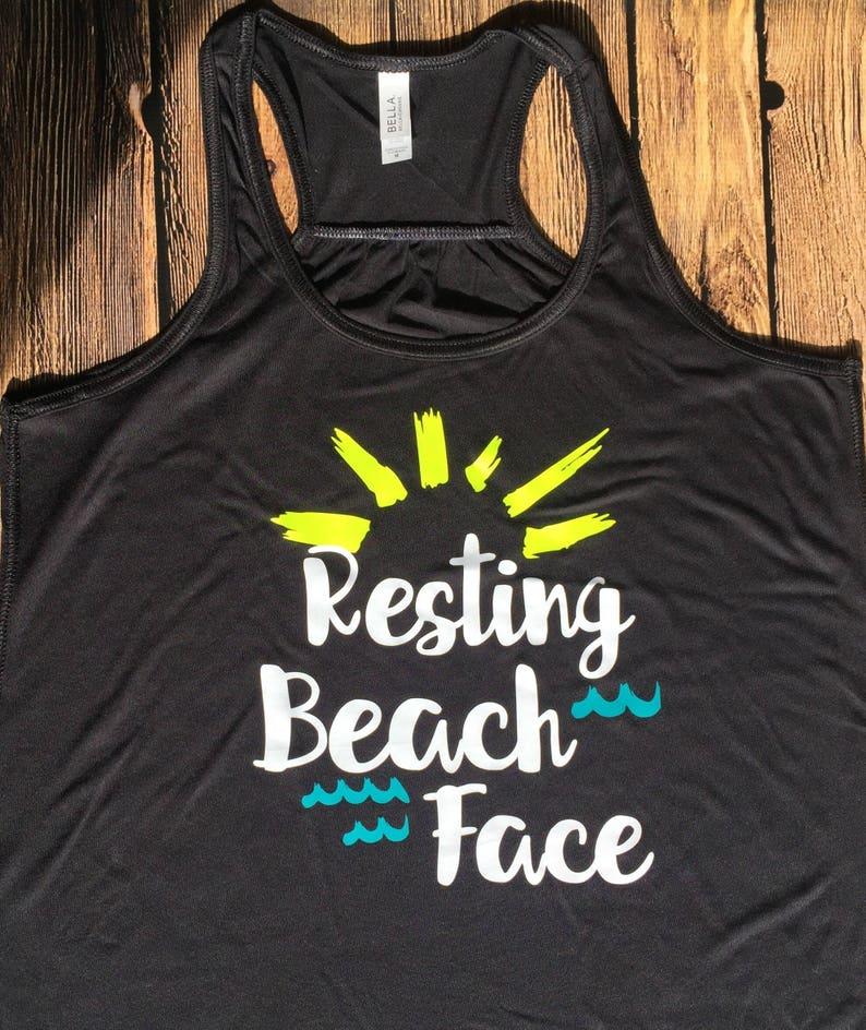 cecdae7b01 Cruise Tank Top Resting Beach Face nautical cruise girls   Etsy