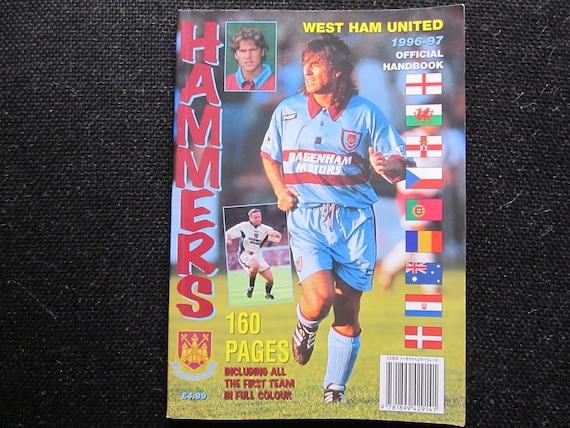 1999 Original West Ham United Football Club Handbook Fathers Day Souvenir Ideal Christmas Gift Memorabilia Yearbook Birthday Present