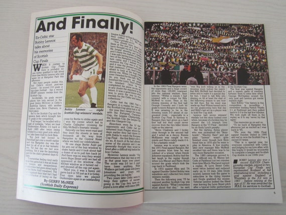 Birthday Present Fathers Day 1980-81 Celtic v Dundee United Scottish Cup Semi-Final Football Programme Ideal Christmas Gift