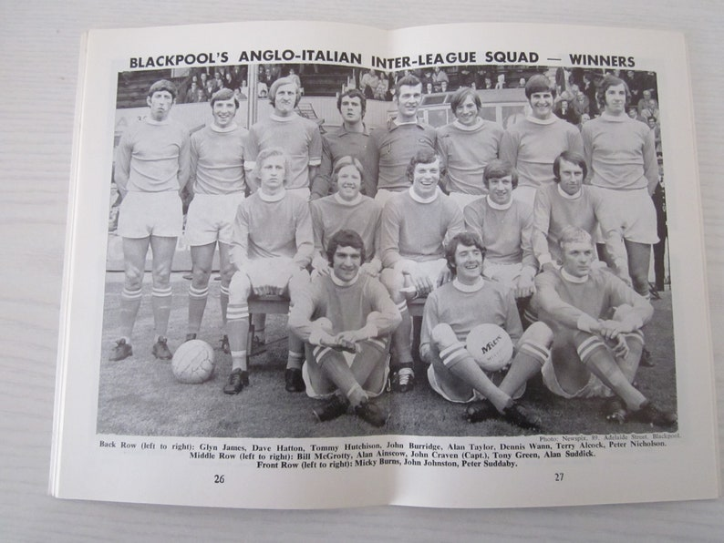 Yearbook Fathers Day Ideal Christmas Gift Birthday Present Souvenir 1971-72 Blackpool Football Supporters Club Handbook Annual