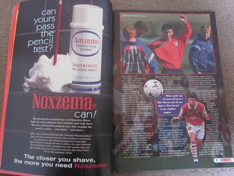 Ideal Christmas Gift April 1996 Gunners Magazine No Birthday Present. Fathers Day Volume 2 68 Large Colourful Pages 7