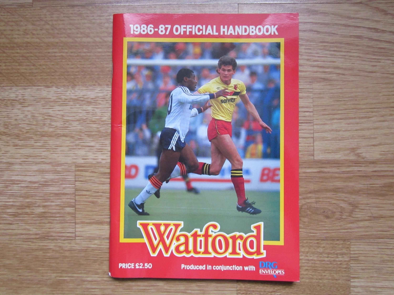 29678b8b113 1986-87 Watford Football Club Football Soccer Club Handbook   Etsy