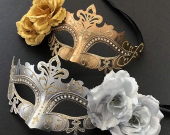 unique woodland pastel magical fantasy masked ball masks costume roses garden Green masquerade mask butterfly dress up flowers