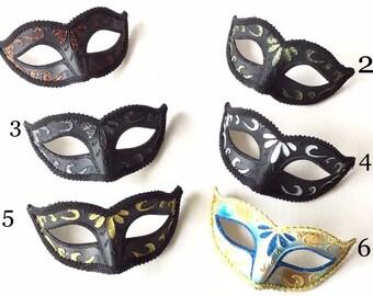 India Pewter Mardi Gras Mask Design Serving Set
