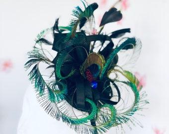 1920s Feather Headband Fascinator Kentucky Derby Boa Headpiece Cocktail Mardi Gras Headwear for Women
