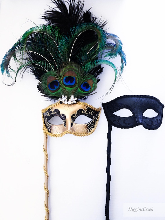 DIY Custom Holding Stick Attached To Almost Any Masquerade Mask Silver