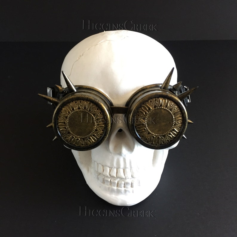 Women steampunk goggles Women Spike goggle See through Spike image 0