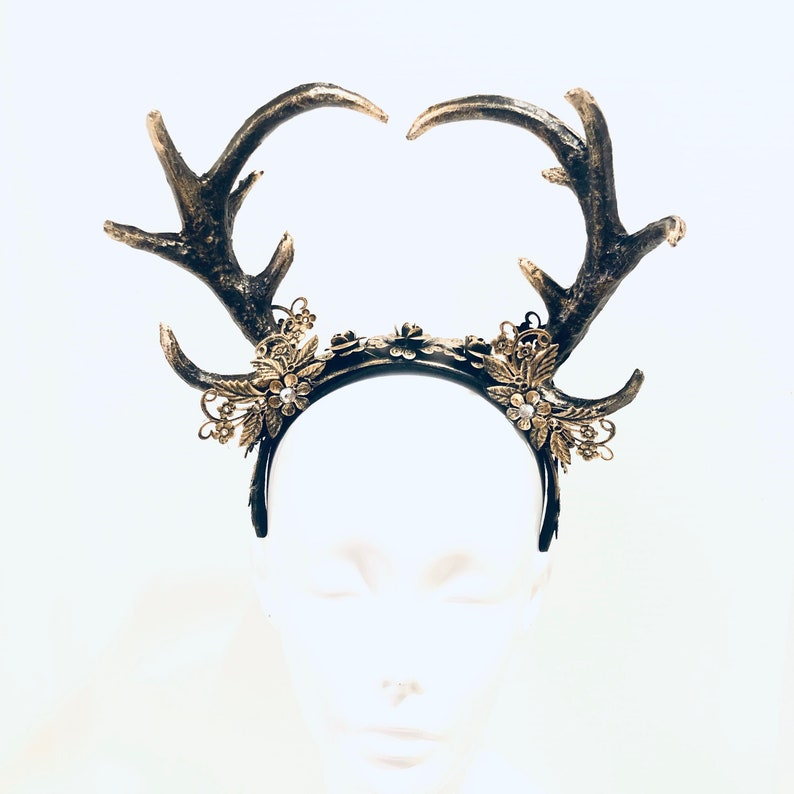 Whimsical deer antler headpiece for children adults halloween image 0