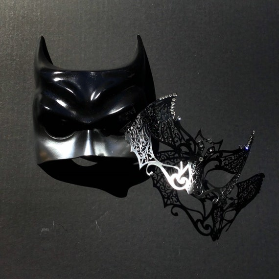 Antique Silver Batman men Masquerade Mask Cosplay Costume Prom Party Mask